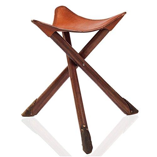 LIXIONG de Plein air Pliant Portable Bois Massif Tabouret Ménage Rétro Chaise de pêche, 2 Styles tabourets de bibliothèque (Couleur : A)