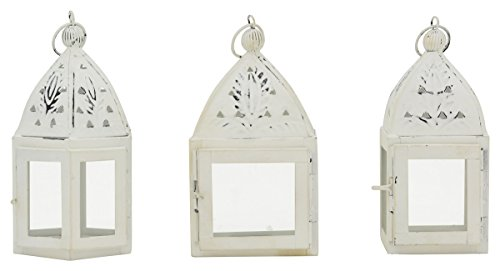 kleine dekorative Garten-Laternen Tisch-Laternen Landhaus-Optik 3 Modelle Preis für 3 Stück
