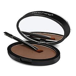 Make up Augenbrauenpuder VENMO Natürliche Augenbraue Powder Makeup Brow Stamp Palette Delicated Shadow Definition (Schwarz A)