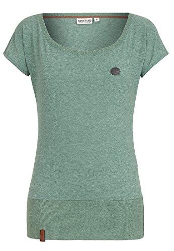 Naketano Female Shortsleeve Wolle Leaf Green Melange, S (Wolle Kurzarm T-shirt)