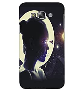 PrintDhaba Moon Girl D-5422 Back Case Cover for SAMSUNG GALAXY GRAND MAX (Multi-Coloured)