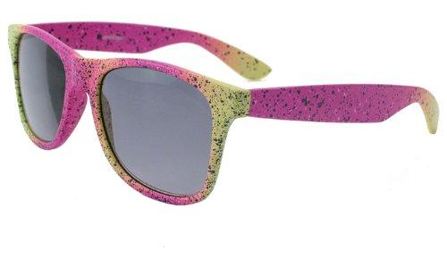 About Eyes SR620 Lunettes de lecture +1.50 avec protection solaire et pochette de protection incluse, Rose/jaune/motif tacheté