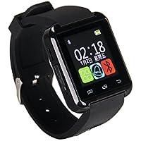 eJiasu Bluetooth intelligente orologio della vigilanza di tocco dello schermo Sport per Samsung Galaxy S4 / S5 / S6 bordo Nota 3/4/5 HTC Nexus Sony LG Huawei smartphone Android (nero)