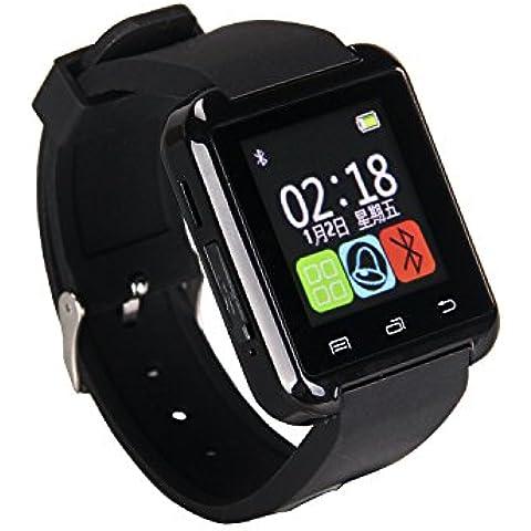Gtide U8 Plus SmartWatch Bluetooth 3.0 pulsera de silicona Soporte de pantalla táctil / contestar o realizar llamadas / reproductor de música para el teléfono móvil Android IOS (negro)