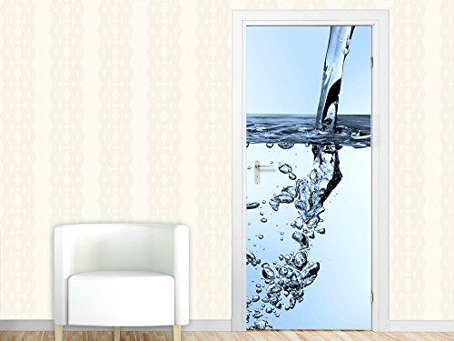 Graz Design 791116_067 Türbild Türaufkleber Tür Deko Türtattoo Wasser Blubber Blasen Sprudelwasser (Größe=67x213cm)