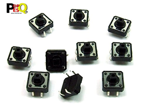 25-polig Switch Box (POPESQ® - 10 Stk. x Taster (12mm x 12mm) 7.3mm 4 polig THT Quadratisch / 10 pcs. x Momentary switch (12mm x 12mm) 7.3mm 4 way THT Square #A2100)