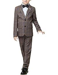 Kinder Jungs Anzug 3-teilige Set Hose Weste Sako Gr.122 Schwarz M Kleidung & Accessoires Streifen Neu