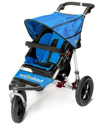 Out n About Nipper Single v4 Stroller Lagoon Blue  LATEST V4 MODEL WITH AUTO-LOCK FOLD! All-terrain 3-Wheeler pushchair, suitable for use from Birth to 4 years (approx) Multi-position adjustable backrest, including lie flat with 5-Point Safety Harness Height adjustable handles & removable, hinged bumper bar 2