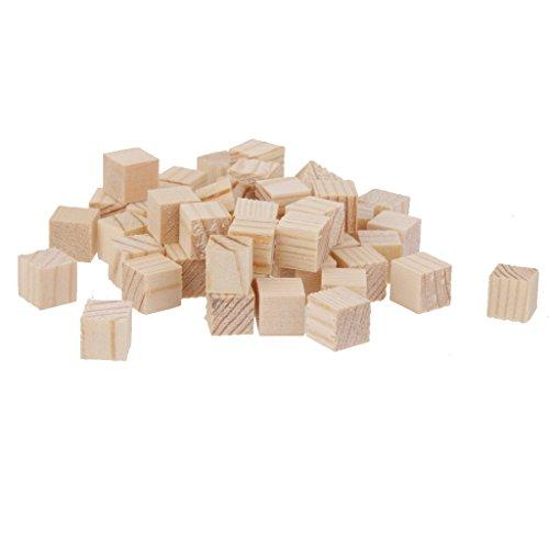 Gazechimp 50x Holz Basteln Holzwürfel Spielsteine Bastelmaterial wood Cubes Miniwürfel