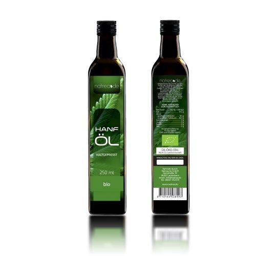 Natrea Bio Hanföl rein nativ | kaltgepresst aus 1. Pressung ✔ 100% reines BIO-Öl ✔ in 250 ml Lichtschutzflasche (1 x 0,25 l) - 3