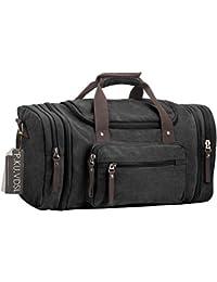 Travel Duffels, P.Ku.Vdsl Canvas Travel Tote Bag, Unisex Gym Totes, Sports Duffles Holdall, Vintage Shoulder Bag...