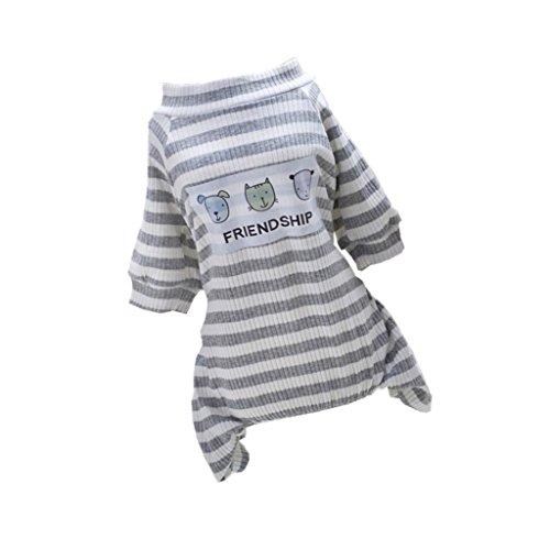 Sharplace Pijama de Perros Gatos Ropa de Animal Doméstico Mono de Algodón de Mascotas para Fiesta de Disfraz - S