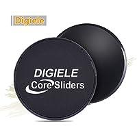 DigiELE Core Sliders - disques de glisse à double face pour tapis et planchers de bois franc, gliding discs équipement d'exercice for Yoga, Pilates, CrossFit, Gym, Home Abdominale Workout