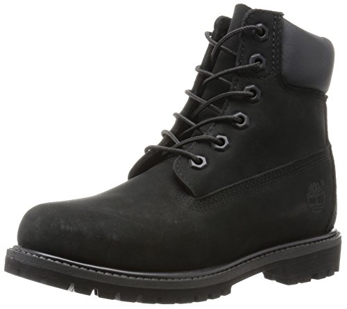 Timberland Damen 6 In Premium Waterproof (Wide fit) Stiefel, Schwarz (Black Waterbuck), 38.5 EU