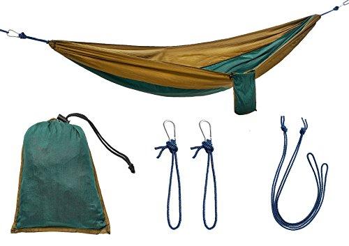 Nordlight Ultraleichte Hängematte Fallschirm Nylon - Reisehängematte für Camping, Trekking, Reisen und Garten, (220 x 100 cm, 285 g) Reise Camping