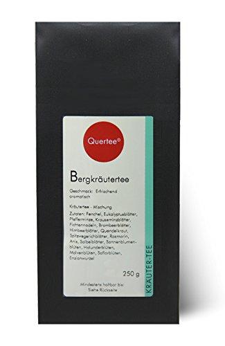 Bergkräutertee - Basischer Kräutertee mit erfrischend aromatischen Geschmack - 200 g von Quertee