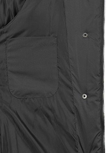 DESIRES Denise Damen Steppmantel lange Jacke gefüttert mit Stehkragen und abnehmbarer Kapuze aus hochwertiger Materialqualität Black (9000)
