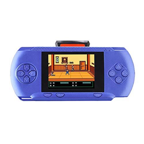 MA87 Tragbare Handheld-Videospiel-3.2-Zoll-R10-Konsole in 300 Game Kids Player gebaut (Blau)