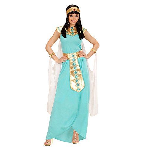 Imagen de disfraz de reina egipcia azul para mujer talla grande  xl