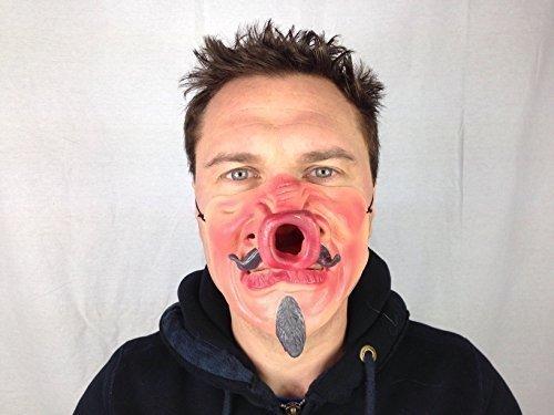 Lustiges Halb Face Flasche Nase Latex Maske Fetisch Kostüm Hirsch Party Maskerade