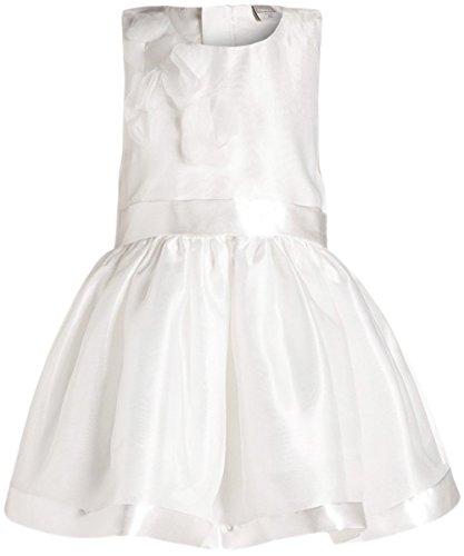 NAME IT Mädchen Kleid nitTILDA 13124270 Weiß (104) (Satin-kleid Geraffte)
