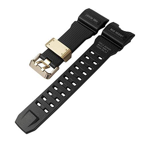 Ansemen Banda de Reloj de Resina para Casio G-Shock Mudmaster GWG-1000GB-1A - Correa de Repuesto