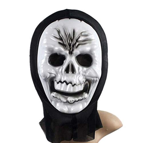 HITSAN INCORPORATION Funny Full Face PVC Realistic Scary Horror Mask Halloween Death Ghost Witch Grimace Scream Masks Party Mask Cosplay Costume Prop