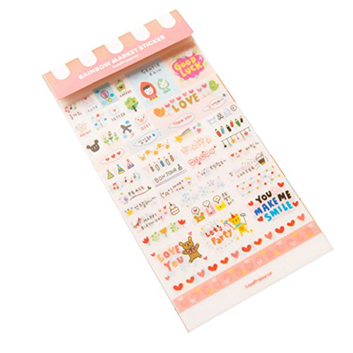 Beauty*Top*Picks Planches d'autocollants Expressions Positives et Mots Gentils pour Journal intime / Agenda / Album de scrapbooking / Cartes / Calendrier
