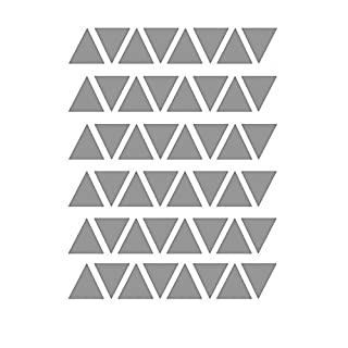 NimbleMinLki 48Pcs/Set Triangle DIY Wall Stickers Decals Self-adhesive Kids Room Home Decor Grey