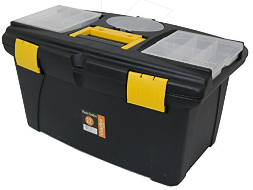"""41h1dXqCpxL - BEST BUY# Marko Tools Plastic Tool Box Sturdy Lockable Removable Storage Compartments DIY (22"""" Toolbox) Reviews and price compare uk"""