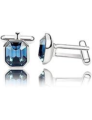 DEPOT TRESOR Manschettenknöpfe Swarovski element NEW Farbe-Versandkostenfrei saphir-blau dunkelblau