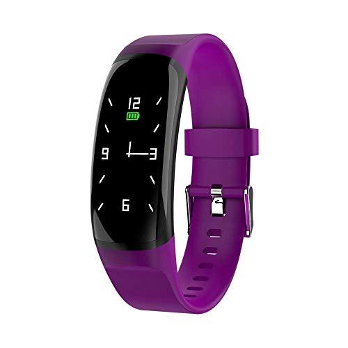 Mygsn Watch Smart Bracelet - Dynamic UI Großbildschirm-Farbbildschirm Herzfrequenz-Blutdruck-Bluetooth-Armband Dial Switching Sports Bracelet Watch (Farbe : Lila)
