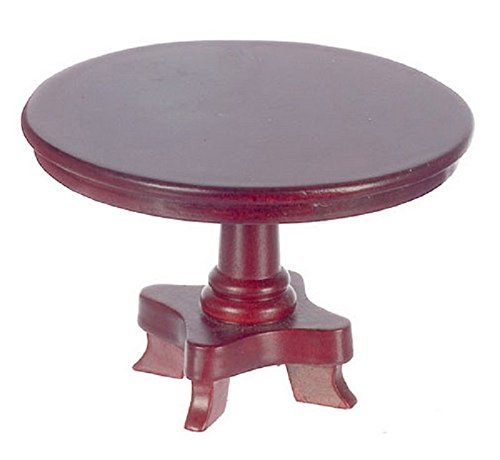 Melody Jane Puppenhaus Klein Mahagoni Rund Podest Esszimmer Tisch Miniatur 1:12 Möbel -