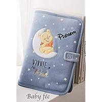 Protège carnet de santé personnalisé Winnie l'ourson garçon prénom Disney