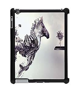 Fuson 2D Printed Zebra Designer Back Case Cover for Apple iPad 3 - D1054