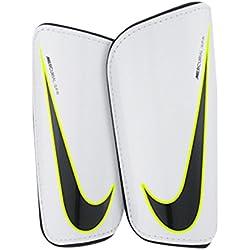 Nike Hard Shell Slip-In Espinilleras, Unisex adulto, Blanco / Negro, S