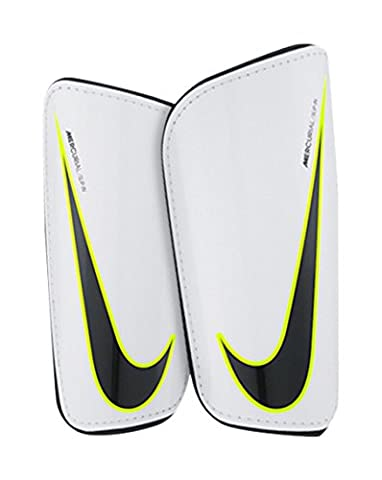 Nike Hard Shell Slip-in Shin Guards, Adult Unisex,White / Black / (Nike Slip)
