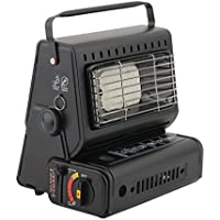 niecao Portable Gas Calefacción/Outdoor calefactor de gas/Gas Calefacción camping/Estufa/Estufa para casa, barrer, exteriores, 1300W, color negro