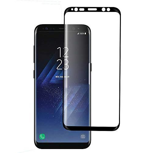 Seomusen Samsung Galaxy S8 Panzerglas Schutzfolie Full Screen, Displayschutzfolie für Samsung Galaxy S8, Anti-Kratz Panzerfolie,Anti-Fingerabdruck, 9H Härtegrad,Blasefrei, Ultra Klar Glatt
