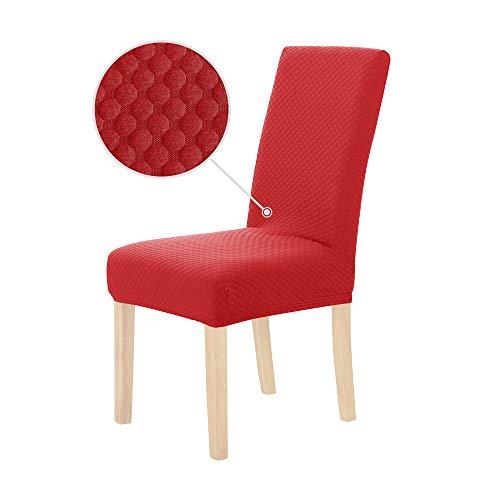 Deconovo coprisedie con schienale 2 pezzi elasticizzato coprisedia universale coprente elegante per sedia da ufficio rosso