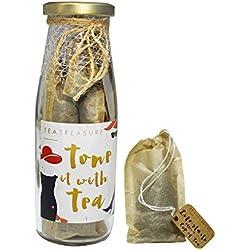 Tea Treasure | Slimming Herbal Tea | Handcrafted Whole Leaf 15 Tea Bags (Slim tea, Natural Weight Loss)