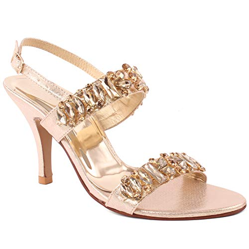Unze Women Kelly Decorated Ankle Fastening Sandals UK Size 3-8