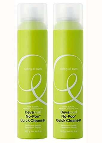 Devacurl No Poo Quick Cleanser 5oz (2 Pack Deal) Dry Shampoo for Curly or Wavy Hair!! by DevaCurl