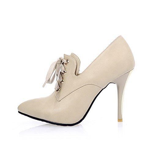BalaMasa lacci, da donna, in pelle, per scarpe Imitated pompe Beige