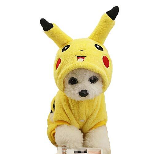 Oncpcare Hunde-Kostüm aus Flanell, für den Winter, L, Picachu
