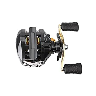 aokur Baitcasting Fishing Reel 13BB 6.3:1 Gear Ratio 12+1 Shielded Ball Bearings Right Hand Magnetic Brake System