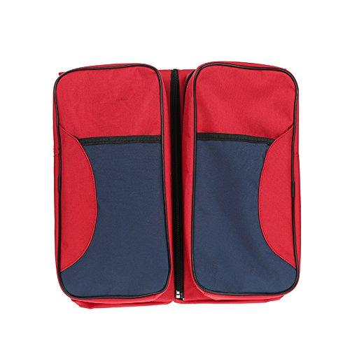 Wickeltaschen Care Packages Babytasche Mum Taschen Multifunktions große Kapazität Taschen Mum Taschen Portable Klappbetten Die Größe der Krippe 75x35x18 (rot)