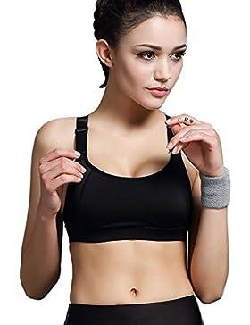 Minetom Donne Sport Reggiseno Yoga Jogging Gilet Athletic Vest Palestra Fitness Tops Nero A 38