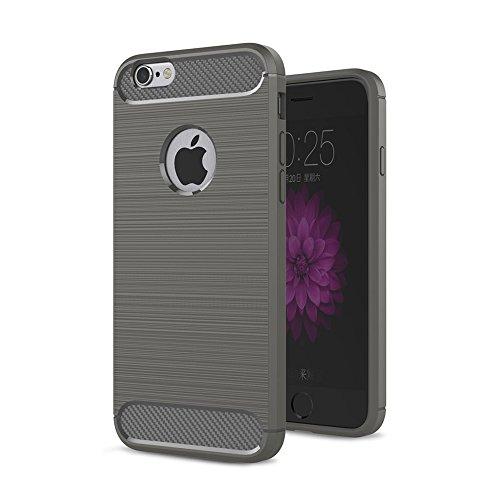 Nutbro iPhone 6 Plus Case,iPhone 6S Plus Carbon Fiber Case Super Slim Smooth [Carbon Fiber] Armor Case Cover , Anti Fingerprints Case Soft TPU Case Mint Color WL-6-Plus-22