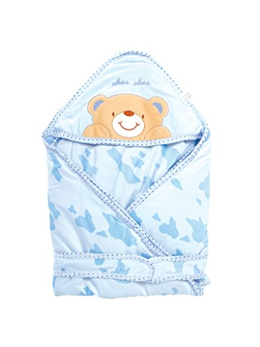 Mee Mee Baby Wrapper Blanket with Hood (Light Blue)  available at amazon for Rs.959